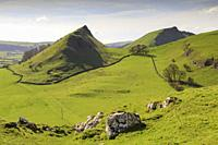 Chrome and Parkhouse Hills in the Peak District National Park captured from Hitter Hill on a morning in late April.