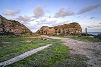 Winspit Quarry, Purbeck, Jurassic Coast, Dorset, England.
