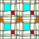 pattern with colored lines and forms
