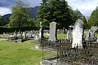 Cemetery in Queenstown, South Island, New Zealand.