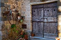 Ancient door in Bolsena, near Bolsena lake, Lazio, Italy.