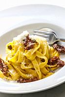 pasta with dried tomatoes.