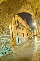 Street Scene, Typical Architecture, Old Town, Ponferrada, El Bierzo Region, León Province, Castilla y León, Spain, Europe.