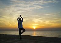 Yoga. Pineda de Mar. Barcelona. Catalunya. Spain.