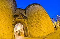 San Pedro Wall Gateway, Roman City Walls of Lugo, UNESCO World Heritage Site, Lugo City, Lugo, Galicia, Spain, Europe.