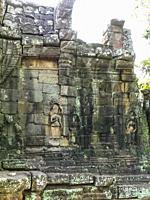 Outer Wall Detail. Preah Khan. Angkor Archaeological Park. Siem Reap. Cambodia.