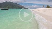 Walk along the shore on Bulow beach, Ko Lipe, Thailand