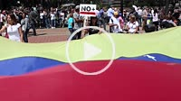 Caracas Venezuela January 30, 2019. Crisis in Venezuela: Protesters march and filled streets across Venezuela in a show of strength for Juan Guaido, t...