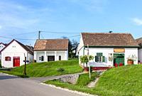 wine cellars, Villánykövesd, Hungary.