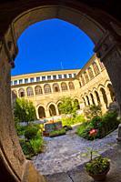 Hostel Monastery of La Magdalena, 13th Century Romanesque Style, Sarria, Lugo, Galicia, Spain, Europe.