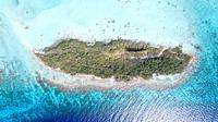 Aerial View, Boce de cote island, losroques venezuela.
