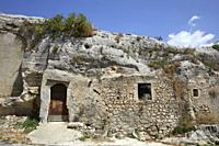 The archeological site of Cave of Ispica, Sicily, Italy.