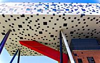 The Sharp Centre for Design an award winning extension to OCAD University, Grange Park, Toronto, Ontario, Canada. Completed in 2004 the extension by W...