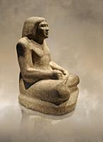 Ancient Egyptian statue from Thebes, 500 BC, Neues Museum Berlin.