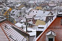 Rooftop with Snow in St Gallen, Switzerland.