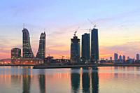 Manama at Sunset, Bahrain.