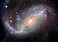 OUTER SPACE -- NGC 1672 - also known as the Barred Spiral Galaxy -- Picture by Lightroom Photos / NASA.