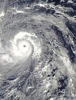 PACIFIC OCEAN Philippines -- 07 Nov 2013 -- This NASA MODIS Aqua satellite image shows what is possibly the strongest storm ever - Super Typhoon Haiya...
