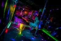 A Salvadoran sex worker performs erotic pole dance on the stage in a sex club in San Salvador, El Salvador, 13 November 2016. Sex workersâ. . task in ...