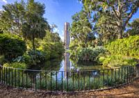 Bok Tower Gardens also known as Bok Mountain Lake Sanctuary and Singing Tower in Lakes Wales Polk County Florida in the United States.