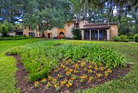 Pinewood Estate in Bok Tower Gardens also known as Bok Mountain Lake Sanctuary in Lakes Wales Polk County Florida in the United States.