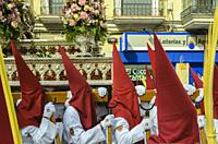 Cuenca, Spain.14 th April,2019. Parade procession Palm Sunday Hosanna on 14 th April 2019.