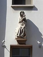 Statue of Virgin Mary and Jesus, Antwerp, Belgium.
