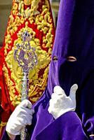 The Holy Week. Procession. Malaga. Spain.