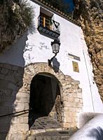 Portal de Saint Josep. El Castell de Guadalest. Alicante. Valencian Community, Spain.