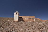 The remote San Ysidro Church, Catarpe, San Pedro de Atacama, Chile.