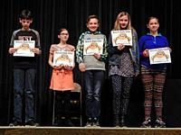 7th Graders Receiving Achievement Awards, Wellsville, New York.