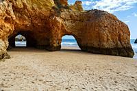 Portimao, Three brothers beach, Algarve, Portugal.