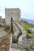 The Keep Tower of medieval castle of Marvao, Portalegre District, Alentejo Region, Portugal.