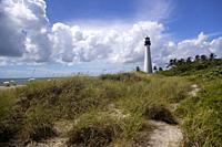 Key Biscaine lighthouse, Miami-Dade, Florida, USA. .
