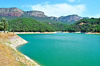 Sau Reservoir in the province of Barcelona.