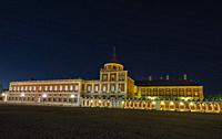 Royal Palace of Aranjuez at night. Madrid. Spain. Europe.