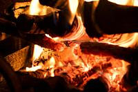 Wood combustion for heat production for domestic heating.