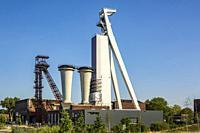 Herten, Langenbochum, D-Herten, D-Herten-Langenbochum, Ruhr area, Westphalia, North Rhine-Westphalia, NRW, former hard coal colliery Schlaegel and Eis...