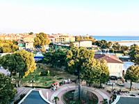Pomorie, Bulgaria - September 03, 2019: Pomorie Is A Town And Seaside Resort In Southeastern Bulgaria, Located On A Narrow Rocky Peninsula In Burgas B...