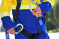 Safety man harness construction equipment.