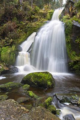 Triberg waterfalls, Triberg, Black forest region, Baden-Württemberg, Germany.