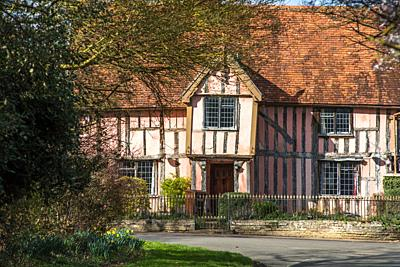 Nether Hall, a half-timbered building in the village of Cavendish, Suffolk, England UK.