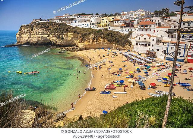 Carvoeiro beach. Carvoeiro. Lagoa Municipality. Faro district. Algarve. Portugal