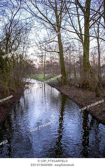 Twiligh in Vondelpark, Amsterdam. Is a public urban park of 47 h