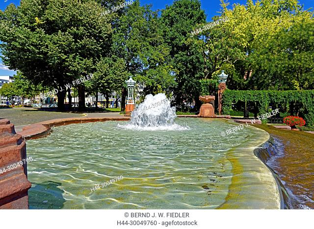 Water fountains, fountains, Mannheim Germany