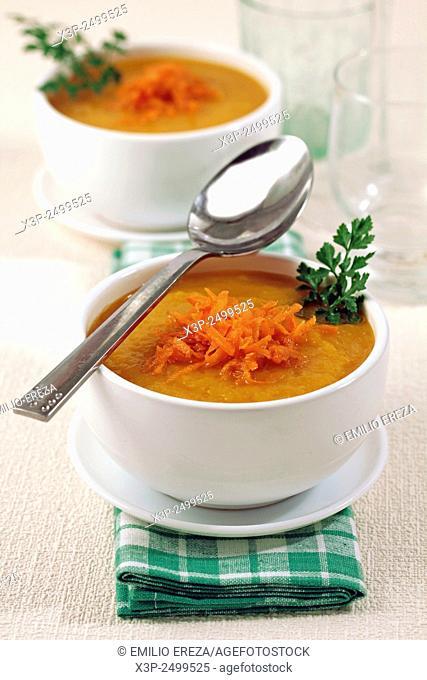 Pumpkin and carrots soup