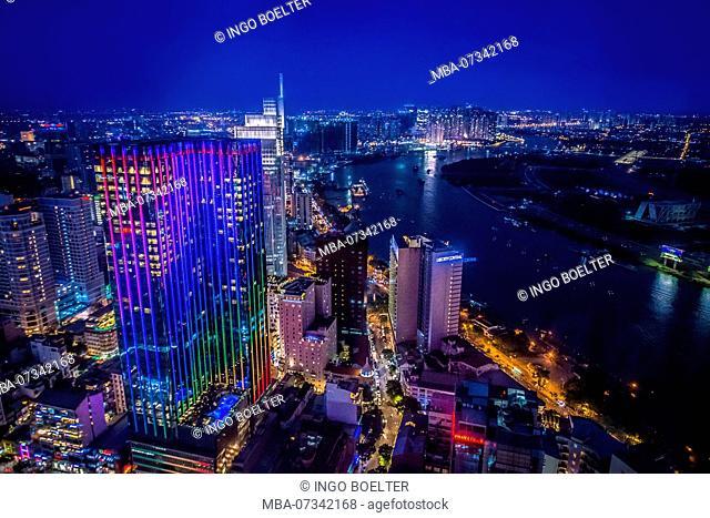 Asia, Southeast Asia, South Vietnam, Vietnam, Saigon, Ho Chi Minh City, Bitexco Financial Tower