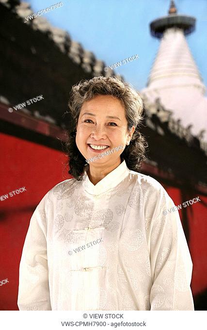 oriental ethnicity woman smiles