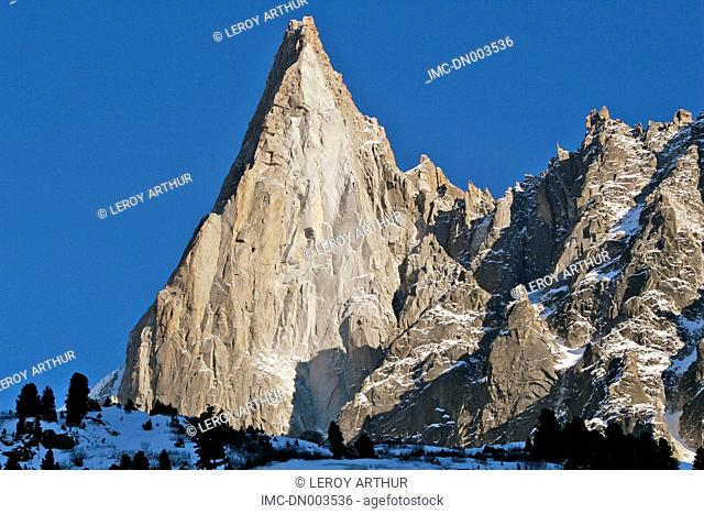 France, Alps, Mont Blanc, the drus