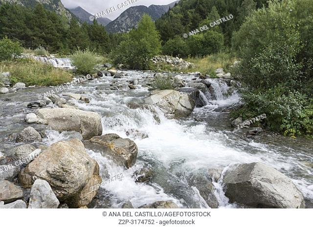 Cascade scenery Boi valley Lleida Catalunya Spain